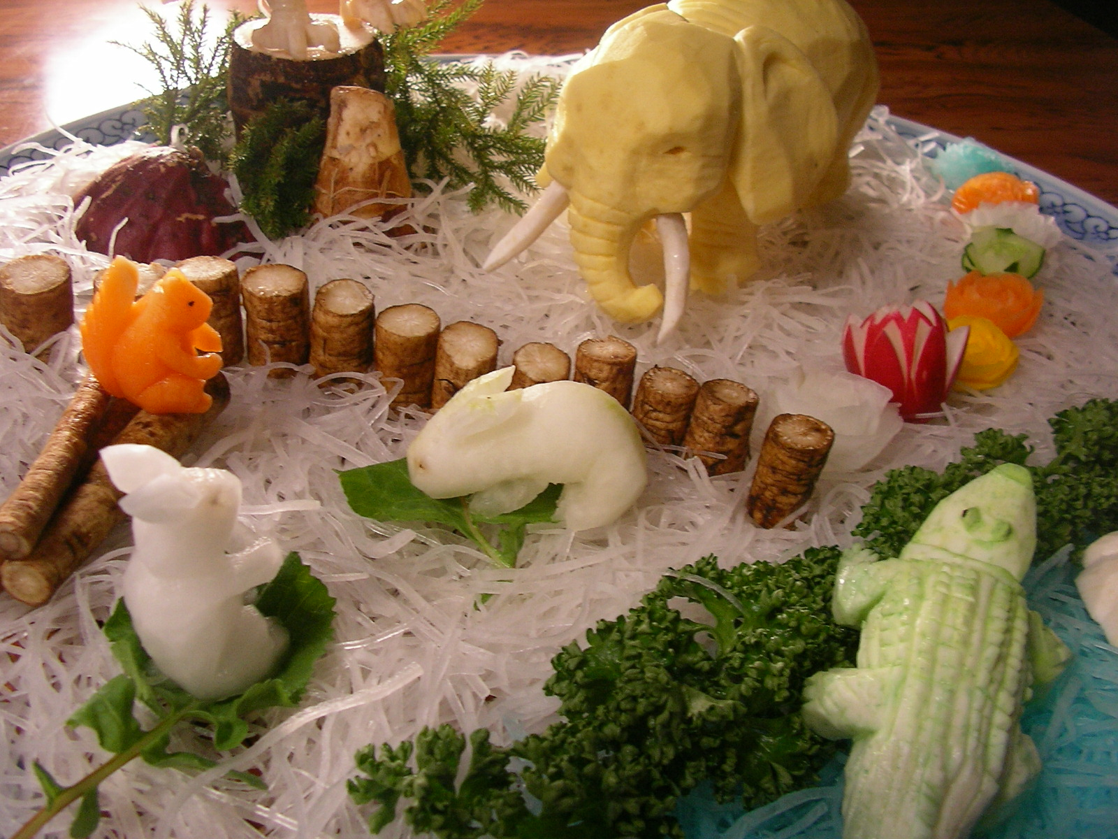 The gallery for gt vegetable carving with theme