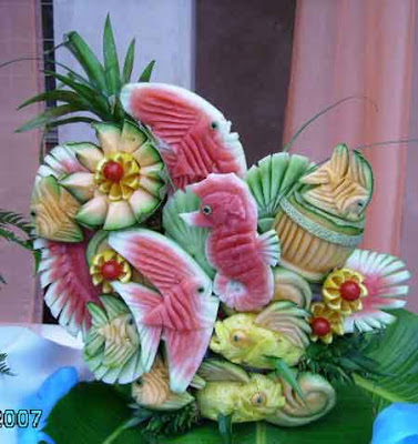 oceanscene, vegetable art